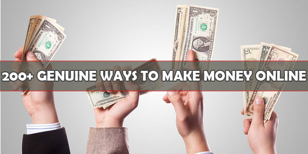200+ Genuine Ways To Make Money Online [InfoGraphic]