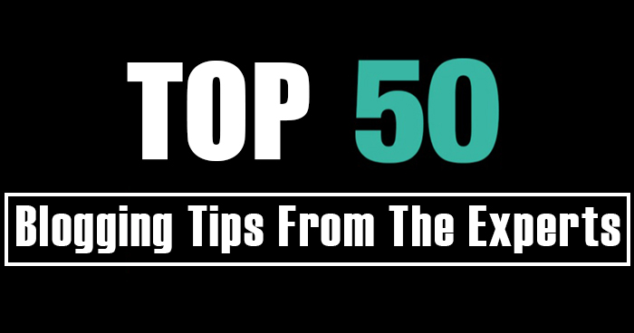 50 Actionable Blogging Tips by the Experts Infographic
