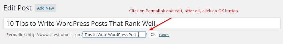 permalink optimization in wordpress